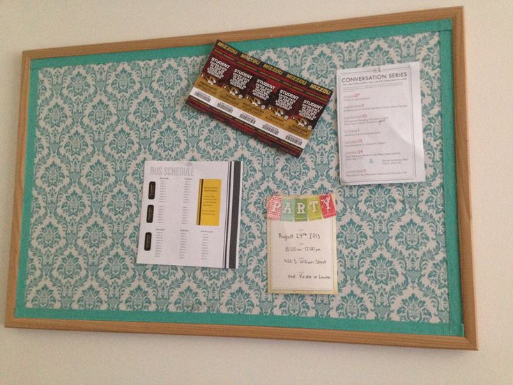 Image result for fabric covered cork board