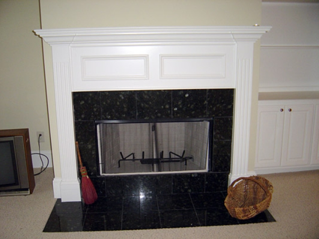 Image result for Granite fireplace tiles