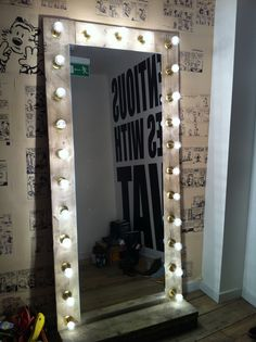 Image result for long hollywood vanity mirror