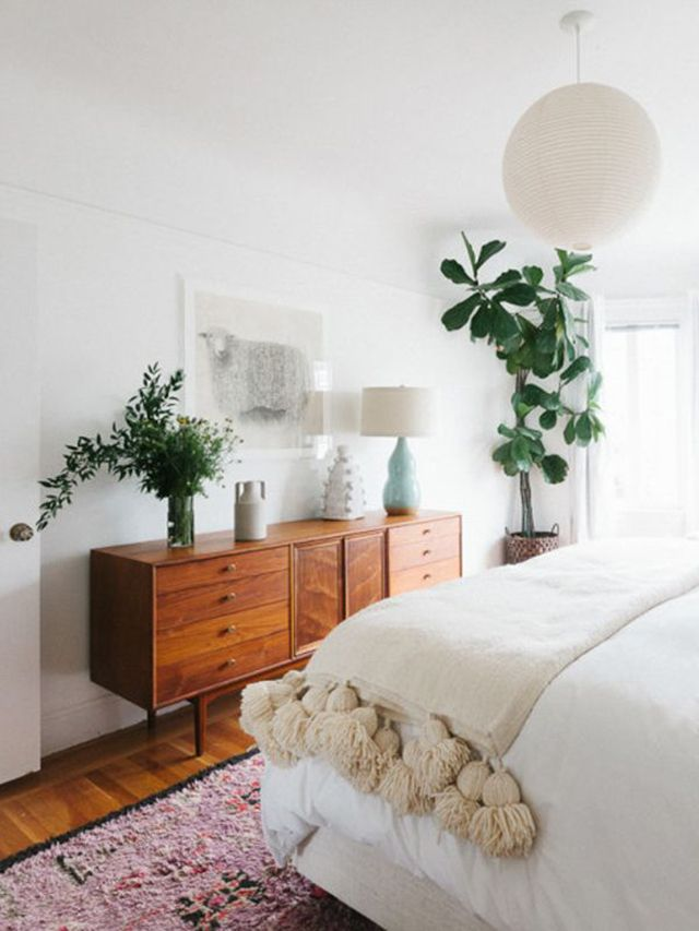 Image result for mid-century modern bedroom grey and white walls