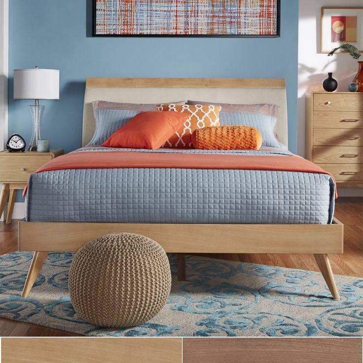 Image result for mid-century modern bedroom platform bed