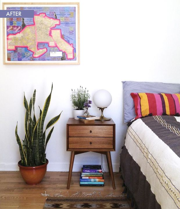 Image result for mid-century modern bedroom potted plants
