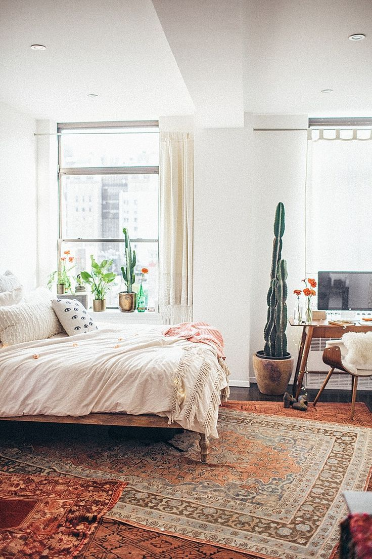 Image result for mid-century modern bedroom pure white walls