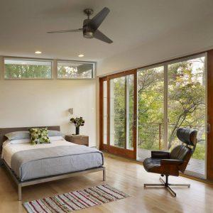 Image result for mid-century modern bedroom sliding windows