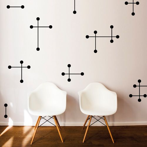 Image result for mid-century modern bedroom star patterns