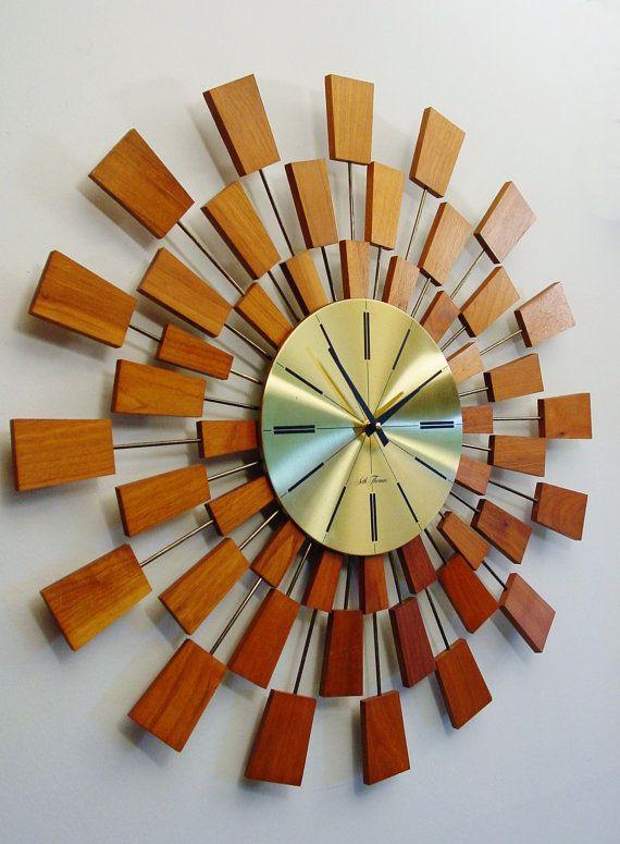 Image result for mid-century modern bedroom vintage clocks