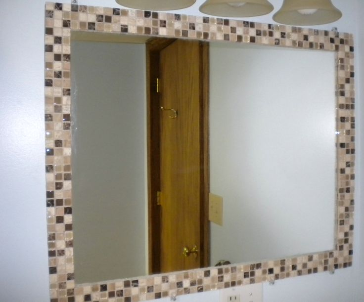 Image result for mosaic tiled diy vanity mirror