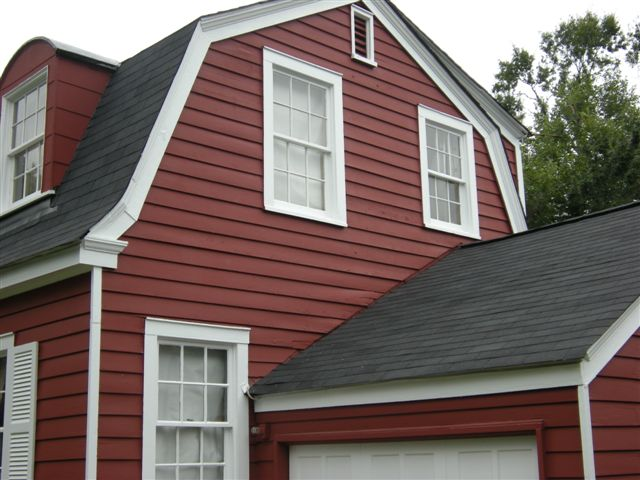 Image result for pine green red-brown and white cape cod house
