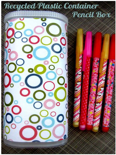 Image result for recycled plastic diy pencil case