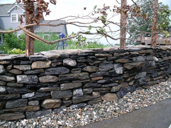 Image result for stone garden fences