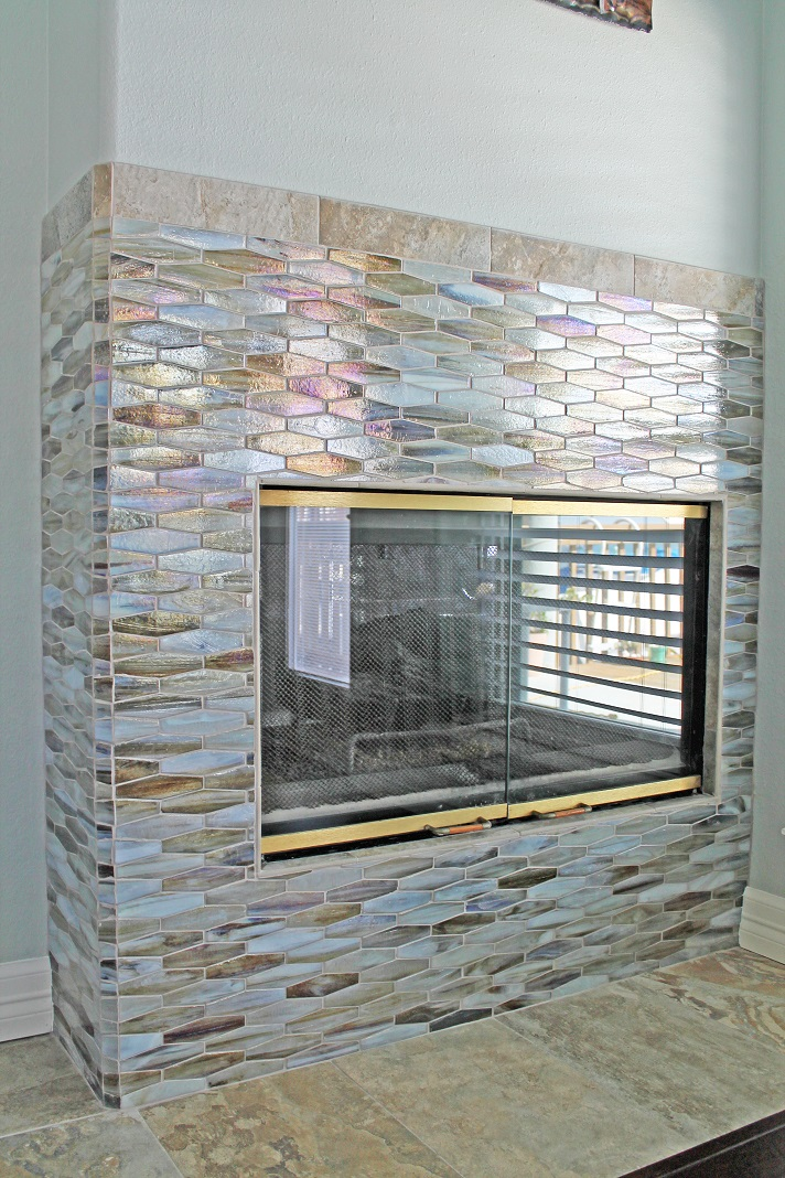 Image result for Tesserae mosaic fireplace tiles