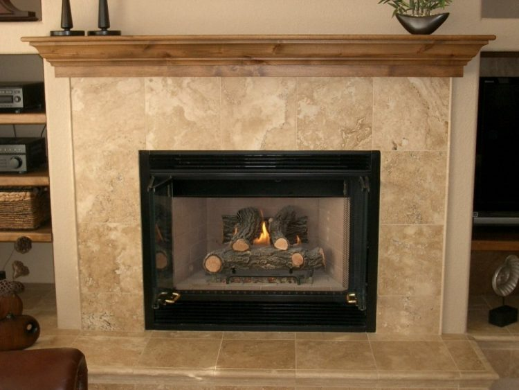 Image result for Travertine fireplace tiles