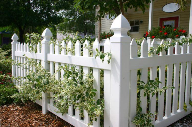 Image result for vinyl garden fences