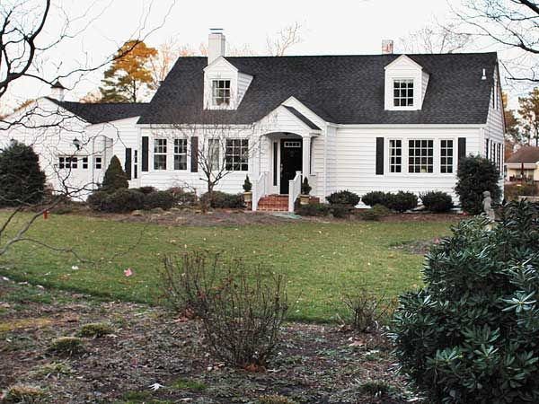 Image result for white, black and grey Cape cod house style