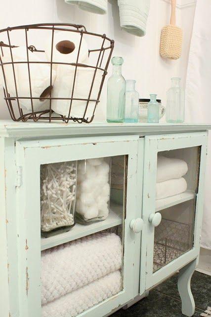 Vintage Cabinets, the Perfect Linen Storage Idea