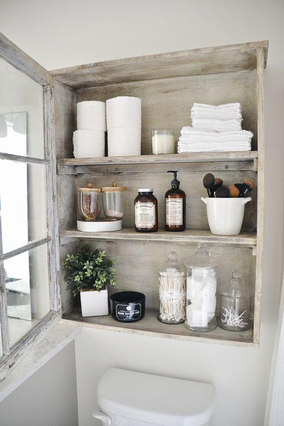 Create a Linen Closet Over your Toilet Space