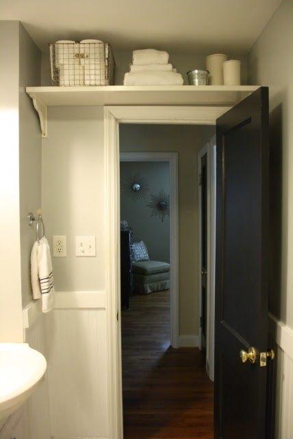 No Linen Closet? Install a Shelf above Your Doors
