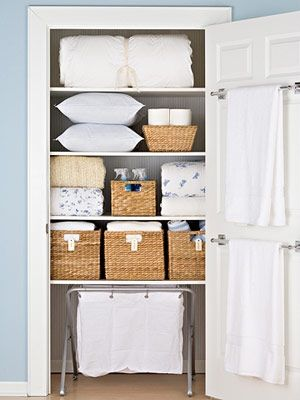 Creative Linen Storage Ideas: Fix Towel Bars, Use Pillow Cases