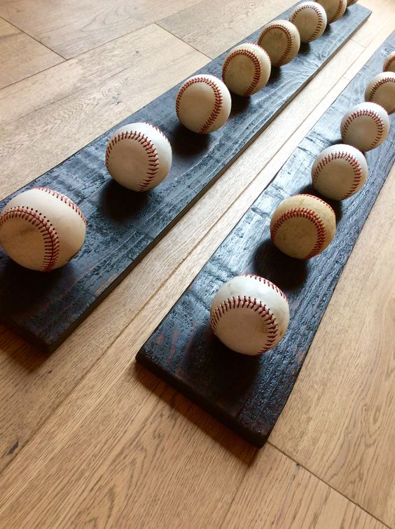 DIY Baseball Hat Rack