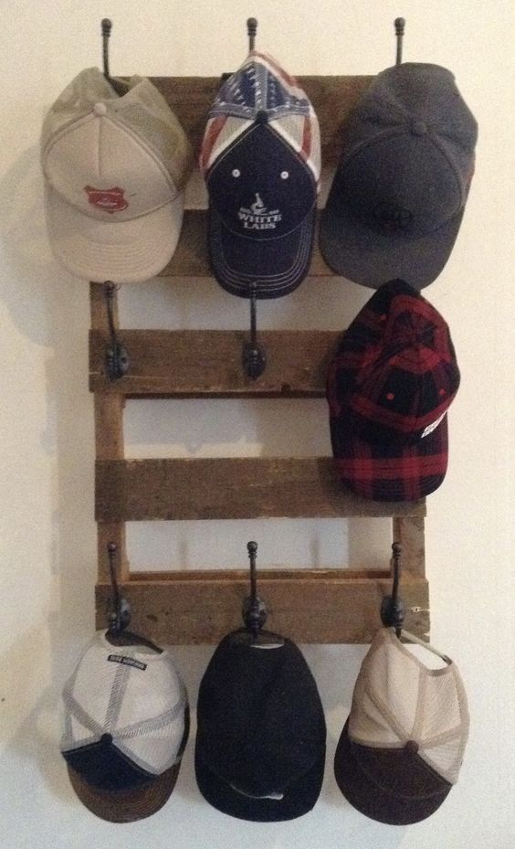 Wood Planks Hat Rack