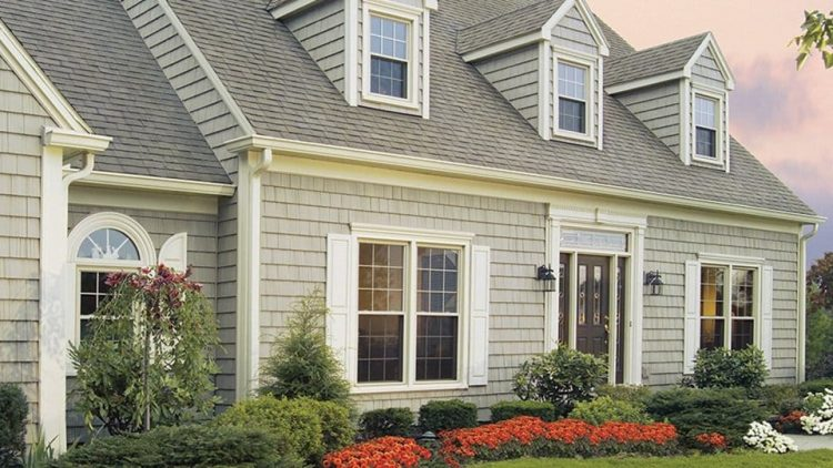 Cape cod house with grades of colours