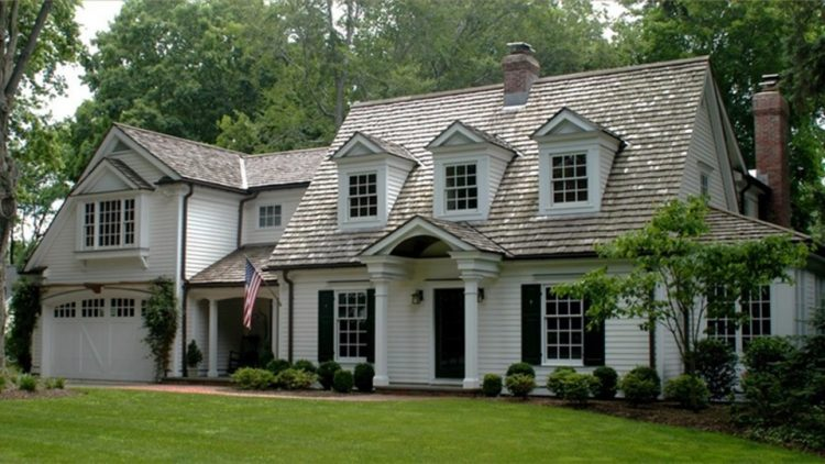 The classic exterior of a cape cod home style