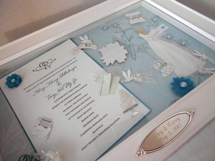 Wedding invitation Shadow box ideas