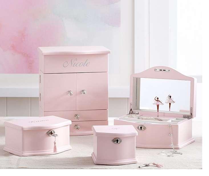 Soft Pink Jewelry Dresser