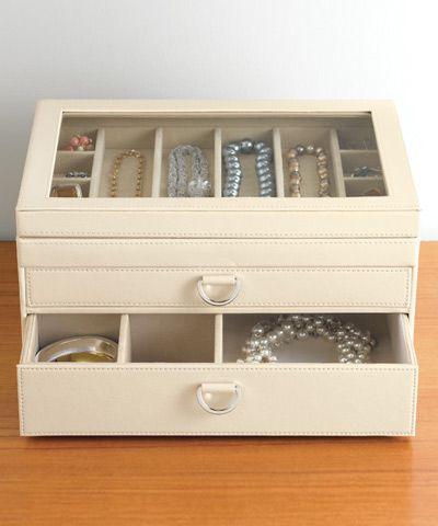 Cream Leather Box