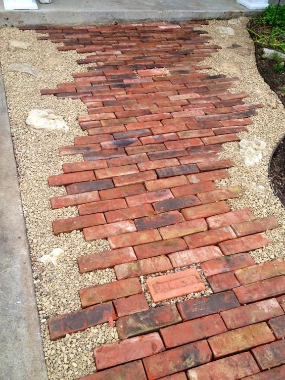Classic and Affordable Brick Pathway