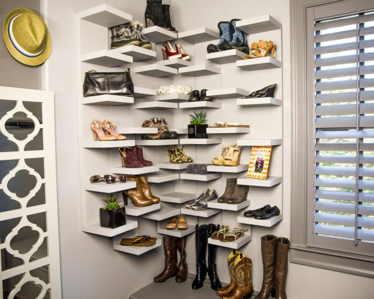 A DIY Shoe Display Case