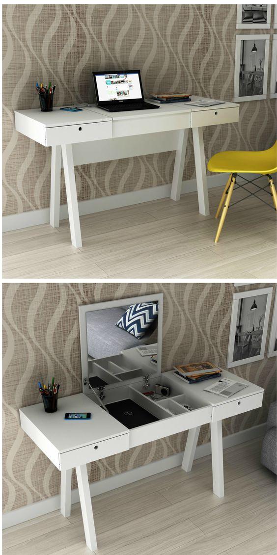 A DIY Computer Desk With Vanity