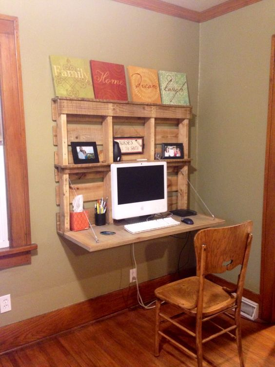 A DIY Computer Desk Made of Wood