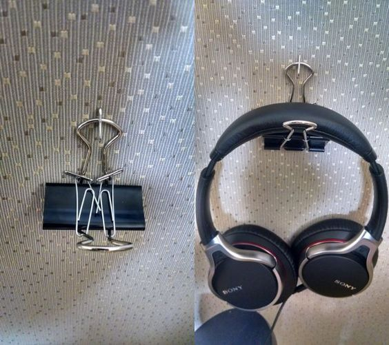 Large Paper Clips as Your DIY Headphone Stand
