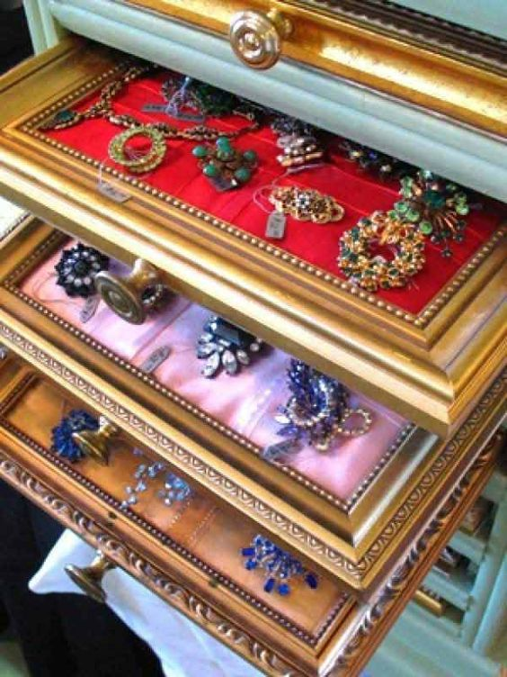 A DIY Jewelry Box Made of a Frame