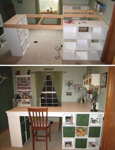 DIY L Shape Desk