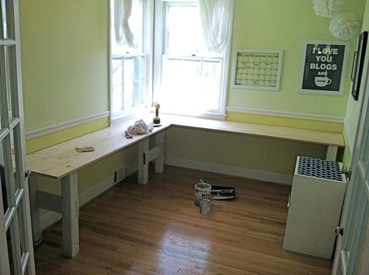 Green L Shape Desk