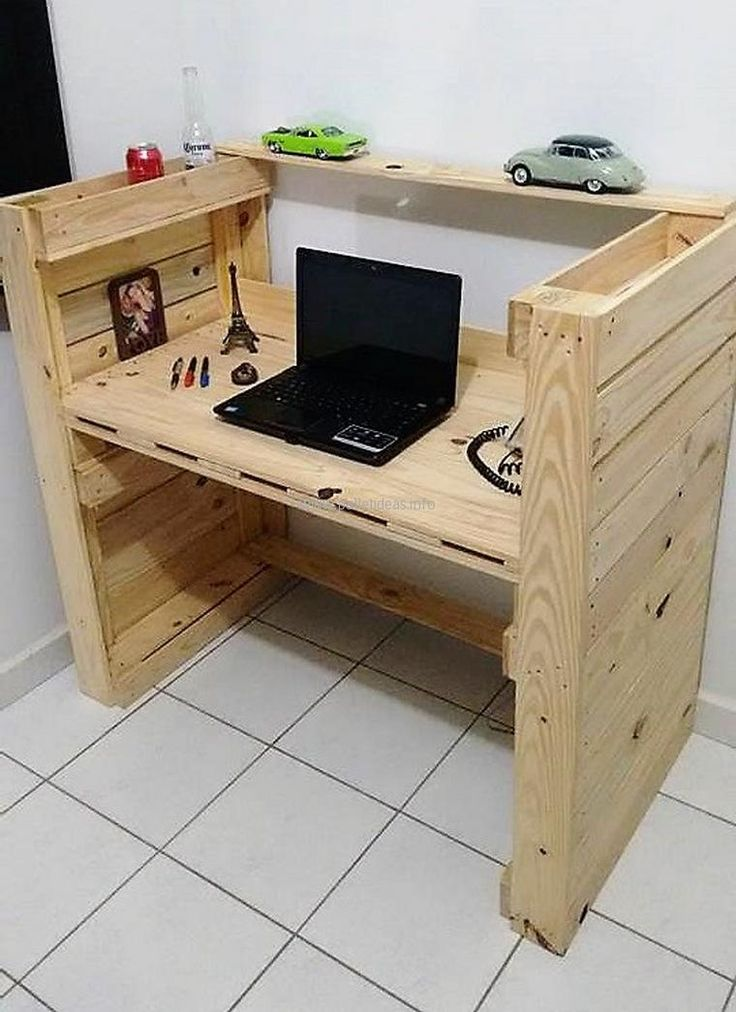 Another DIY Computer Desk Inspiration from Wood