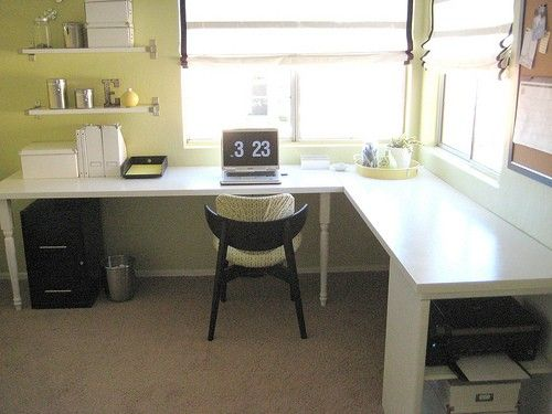 Window L Shape Desk