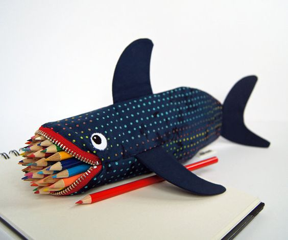Black Shark Pencil Case