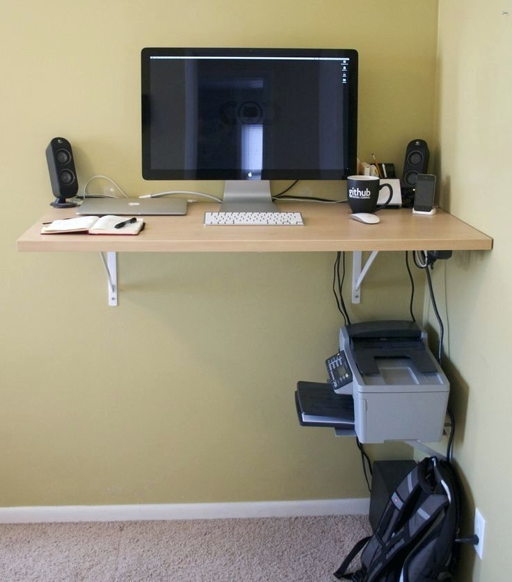 A DIY Computer Desk for Small Rooms
