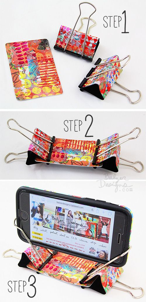 10 Awesomely Creative DIY Phone Stand