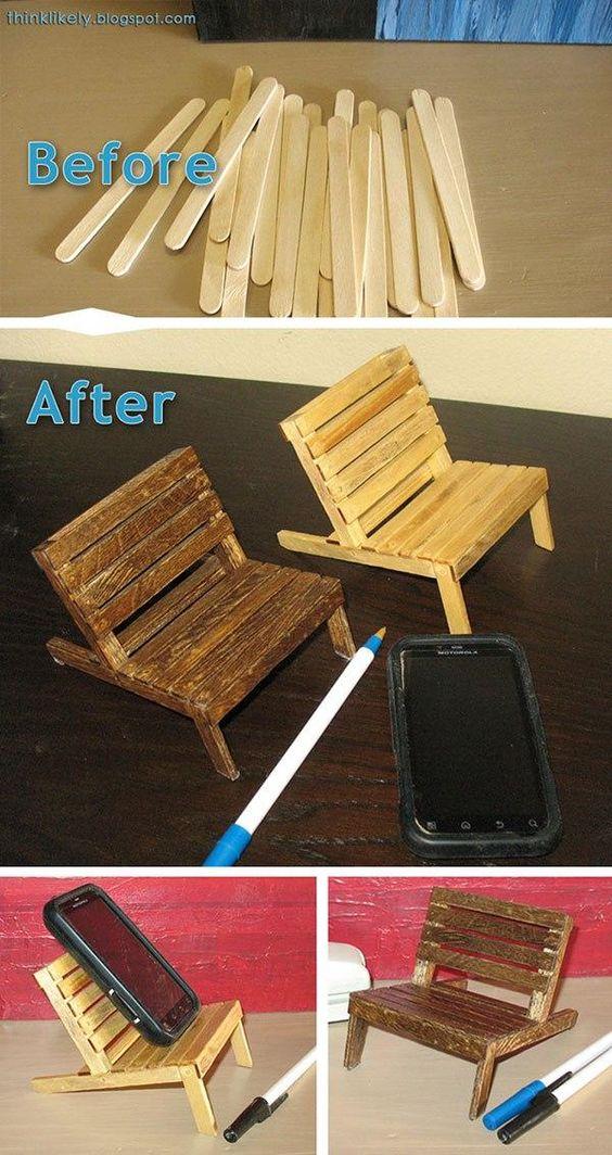Stick Phone Stand DIY