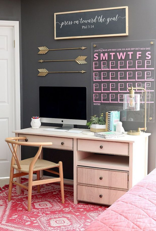 The Pink Computer Desk