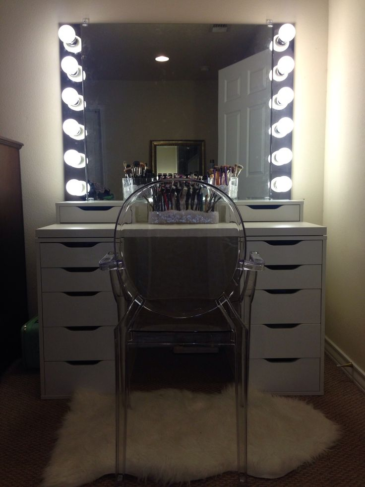Diy Vanity Mirror Lights For Bathroom And Makeup Station