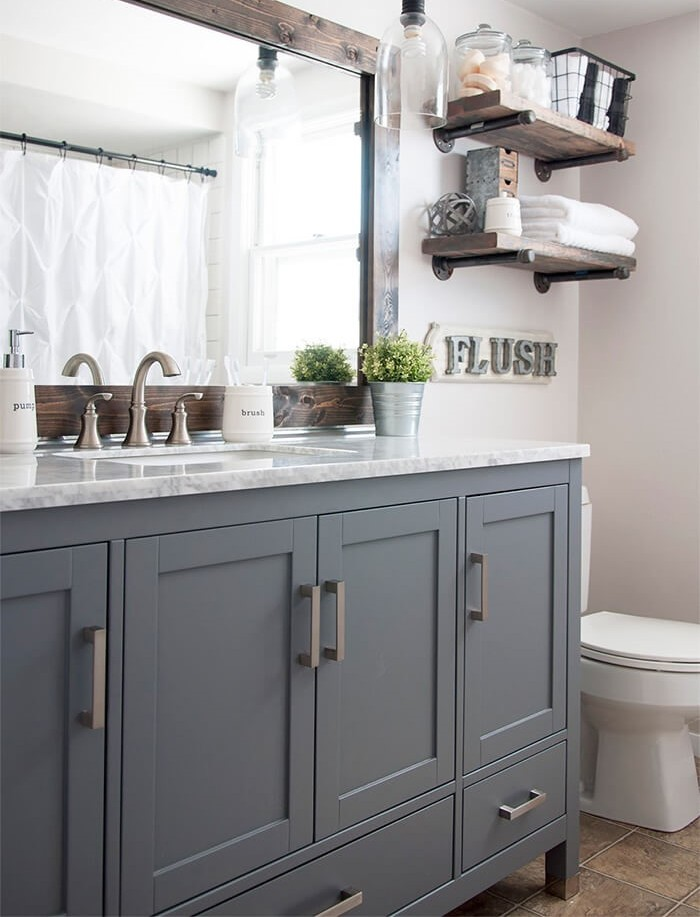 Upgrading Your Vanity and Adding Some Shelves