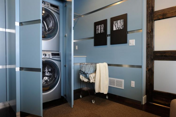 Double-doors To Conceal the Laundry Machines