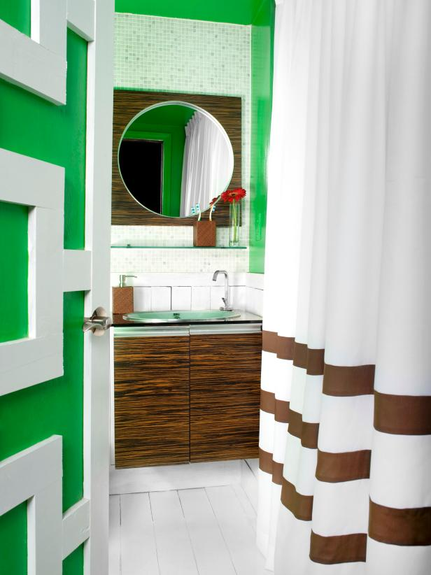 Bold Color In The Bathroom