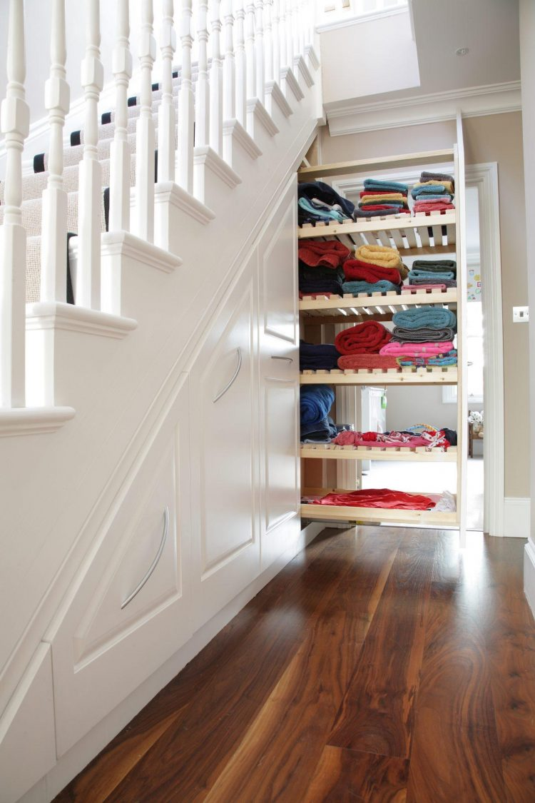 The Linen Rack Under the Stairs