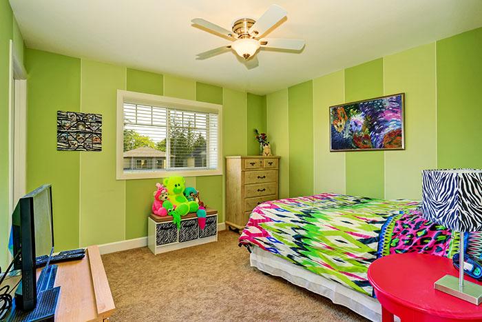 Green Paint bedroom decor ideas